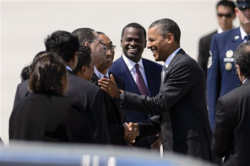 Barack Obama, John Eaves, Burrell Ellis, Kasim Reed